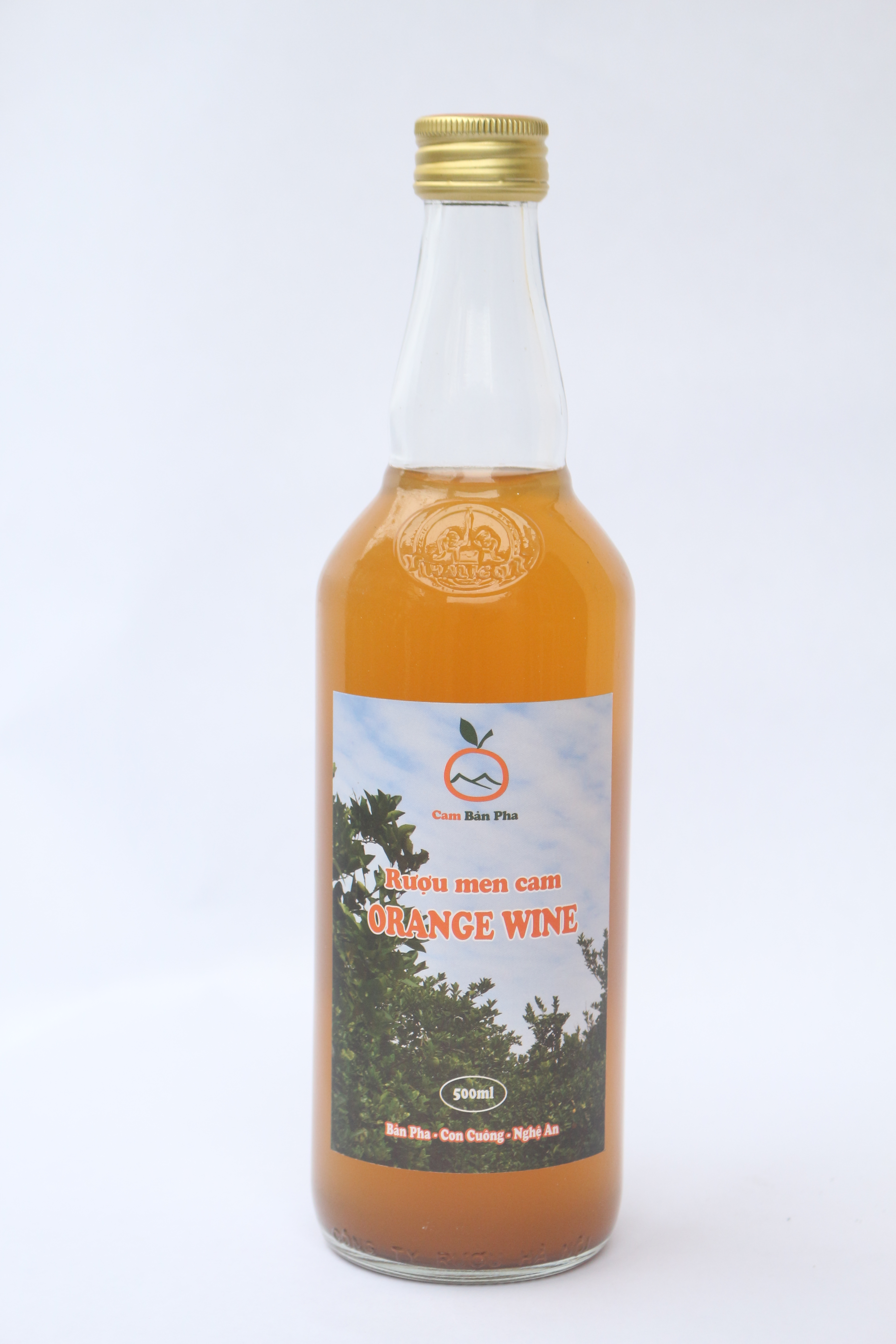 Fermented orange wine